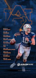 My goodness, it's a telephone inside of a football! 2020 Auburn Tigers Football Schedule Downloadable Wallpaper