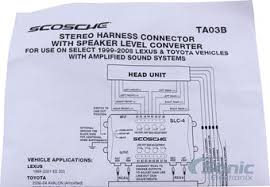scosche ta03b amplifier interface for select 2000 up toyota product scosche ta03b