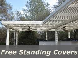 free standing aluminum patio cover. Patio Covers Free Standing Aluminum Cover