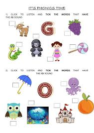 Click on the category or resource type below to find printable phonics worksheets and. Phonics G O Sounds Worksheet