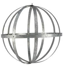 galvanized metal folding ball silver 24 fl design sphere orb