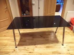 ikea galant gl desk table with smoked black top office