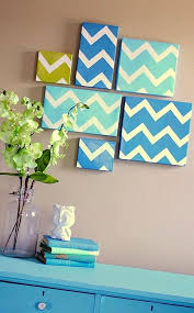diy multi colored chevron wall art free stencil creating multi