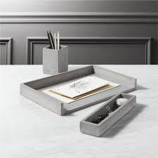 modern office desk accessories. Cement Desk Accessories CB2 Throughout Modern Remodel 3 Office