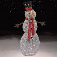 Kmart Christmas Lights Silver Snowman Decoration With 150 Lights Kmart Snowman