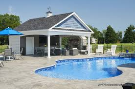 pools patios and porches awesome 12 x 24 custom avalon pool house with cupola stone