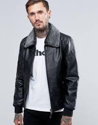 schott leather flight jacket detachable faux fur collar black men schott nyc leather jacket hot