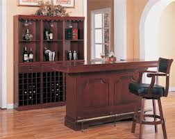 Cherry Bar Cabinet Buy Lambert Traditional Wine Wall Bar Unit By Coaster From Www