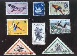 introduction to stamp collecting page a variety of bird stamps