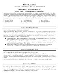 Fair Private Equity Resume Pdf With Additional Banker Of Examples