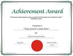 Special Certificate Achievement Award Certificatestreet Com School