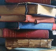 books pile v 2004 oil 8 x 9 private collection