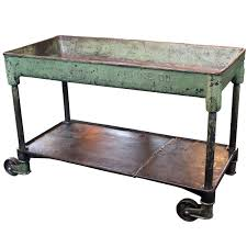 Antique Metal Kitchen Table Home Styles The Orleans Vintage Carmel Kitchen Utility Table 5061
