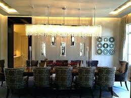 dining room chandelier height medium size of modern rectangular chandeliers recommended from table ideas crystal archived