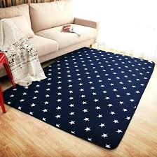 new royal blue white stars fleece rug carpet kids baby room soft crawling play