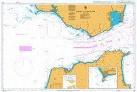 British Admiralty Nautical Chart 142 Strait Of Gibraltar