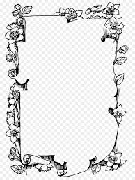 picture frames black and white drawing monochrome photography flower frame png 886 1200 free transpa picture frames png