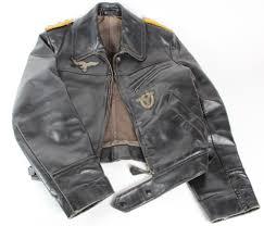 lot 361 german luftwaffe pilots leather flying jacket black yellow piped hauptman shoulder