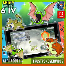 Pokemon Let's Go - Shiny 6 IV Rattata Raticate Zubat Golbat - Trust Poke  Services