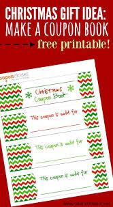 Make A Printable Coupon Free Christmas Coupon Book Printable Homemade Gift Idea One