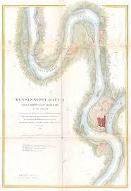 Missouri River Depth Chart Mississippi River Map Missouri Mississippi Vintage