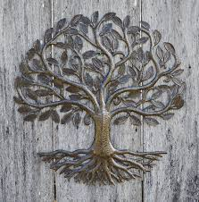 Metal Wall Art, Haiti, Tree of Life, Recycled Steel Garden Art, Fair
