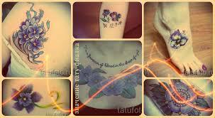 значение тату фиалка смысл история и фото готовых татуировок
