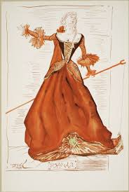 as you like it shakespeare library drawing by salvador dalatildeshy of a costume for rosalind 1948