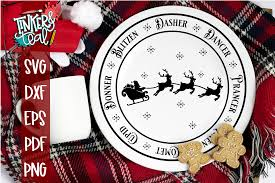 So fontsy standard commercial use license. Santas Sleigh Christmas Plate Svg Tinker And Teal