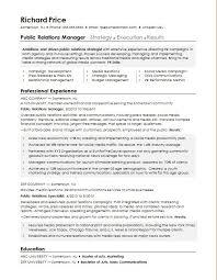 Pr Cv Template Public Relations Cv Template Cv Samples Examples Resume Templates