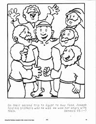 joseph coloring pages | Joseph forgives his brothers coloring page ...