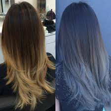 hair color trends formula blue gray sombre