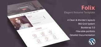 Folix One Page Resume Personal Portfolio Wordpress Theme