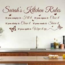 personalised kitchen rules quote wall art sticker 120cm w x 52cm h  on kitchen wall art amazon uk with kitchen wall art amazon uk