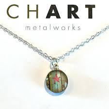 Starfish Chart Chart Jewelry Nautical Starfish Chart Petite Necklace 17 50 Ebay