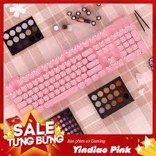Bàn Phím Cơ Yindiao Pink Blue Switch Led Đơn Sắc Trắng Phím vuông Keycap  tròn, Giá siêu rẻ 600,000đ! Mua liền tay! - SaleZone Store