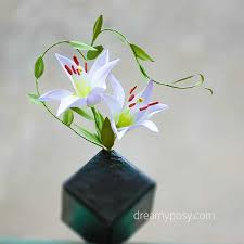 Diy Lily Flower From Normal Printer Paper Free Template Hometalk