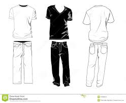 Shirts With Pants T Shirt And Pants Templates Stock Vector Illustration Of