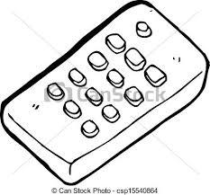 remote control drawing. vector - cartoon remote control drawing t