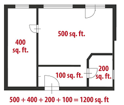 even complicated floor plans are just a series of rectangles you can add up