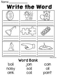 Students work on starting and finishing words. Oi Oy Worksheets And Activities No Prep Vowel Teams Worksheets Pairs