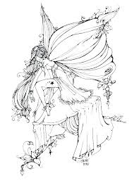 Fairies Coloring Pages For Adults Mycoloring