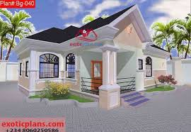 3 bedrooms bungalow building plan bg 040 1