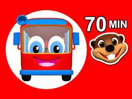Wheels On The Red Bus Color Songs Popular Nursery Rhymes