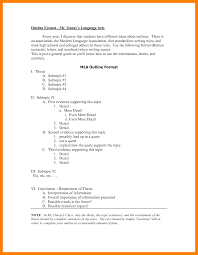 Research Paper Outline Samples Example Apa Format For College Sample