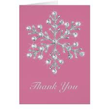 snowflake thank you cards crystal snowflake thank you card zazzle com