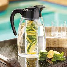 fresh glass water infuser pitcher flavor it infusion 3 in 1 beverage system the green head