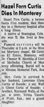 Obituary for Hazel Fern Curtis (Aged 72) - Newspapers.com