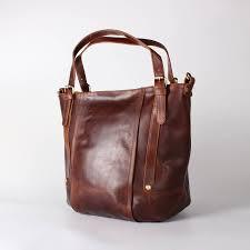 somerset leather bucket bag