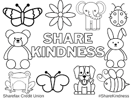 Our unique coloring pages are great for adults who have an inner kid too! Share Kindness Sharefax Credit Union